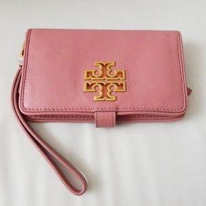 TORY BURCH Britten Smart Phone Wallet in Pink NWT